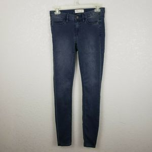 Madewell sz 24 skinny mid rise jeans stretchy blue